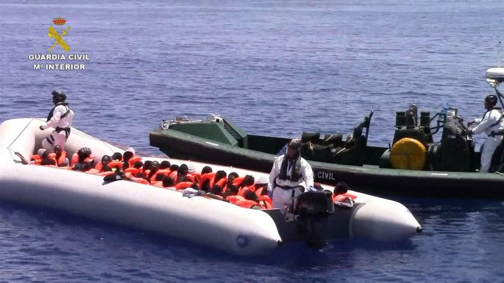Migrant boats are being intercepted by the Guaria Civil | Credit: ANSA