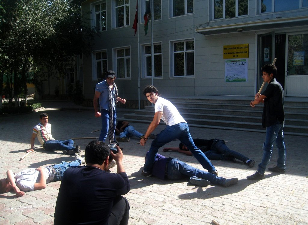 Reshad, lors du tournage d'un film en 2014. Crédit : Reshad Nikzad