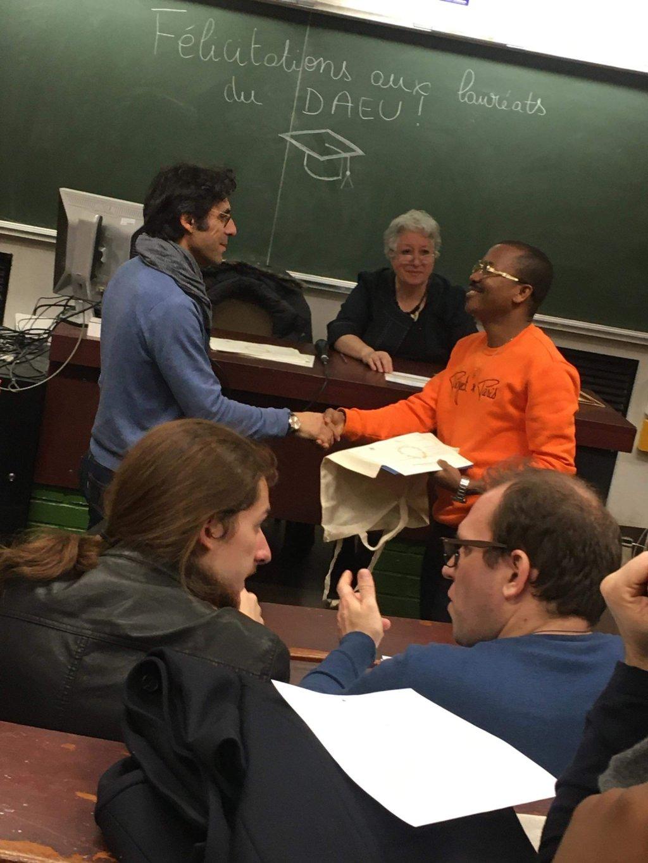 La remise du Diplme dAccs aux Etudes Universitaires DAEU  la Sorbonne Crdit  Rodrigue