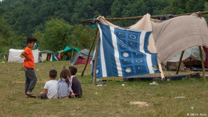 The makeshift tents in Velika Kladusa do little to protect against the elements