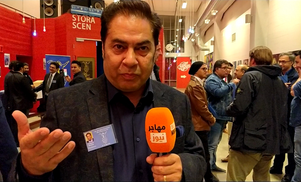 همایون مروت،  فلمساز و از برگزارکنندگان جشنواره. عکس از واسع محسن