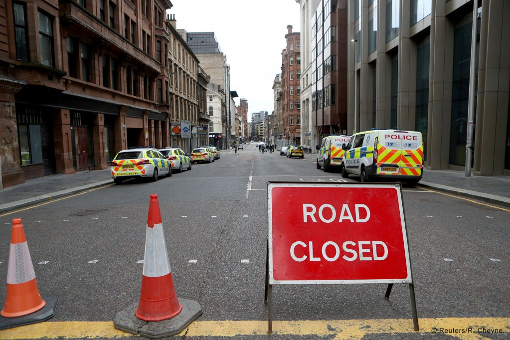 The crime scene in central Glasgow remains blocked off  Photo ReutersR Cheyne