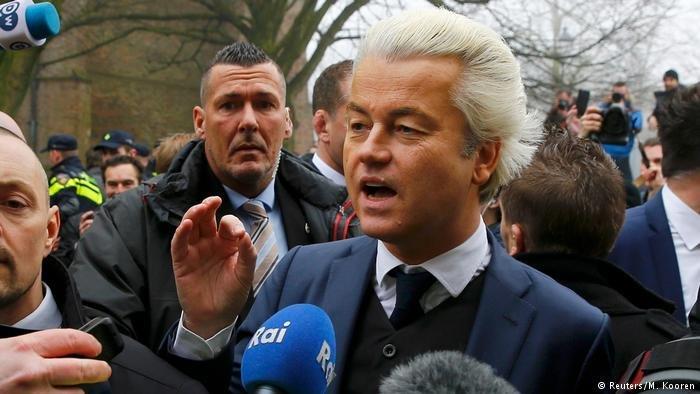 Niederlande | Geert Wilders auf Wahlkampfveranstaltung (Reuters/M. Kooren)