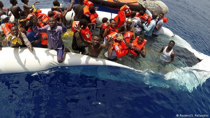 Refugees risking their lives in the Mediterranean