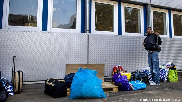 A refugee shelter in the Netherlands
