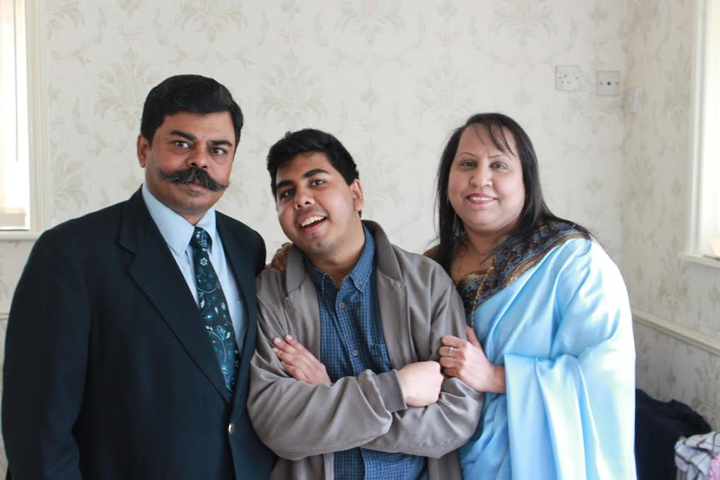 Shahzad, Charles and Ruth Mukerjee were detained in Yarl's Wood Immigration Removal Centre. (Photo provided by the Mukerjee family)