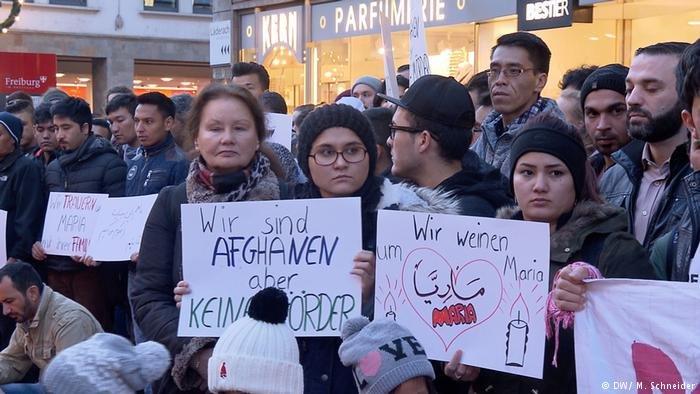 لاجئون أفغان أدانوا قتل الفتاة الألمانية ماريا من قبل شاب أفغاني
