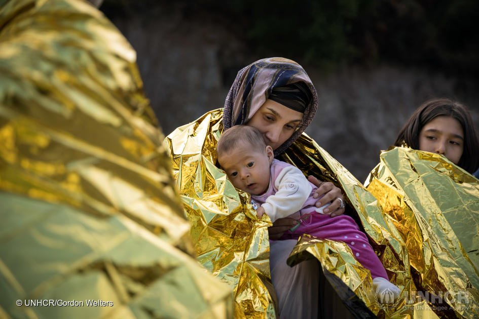 Most of the children arriving in Greece by sea are from Afghanistan, Syria and Iraq | Credit: UNHCR/Gordon Welters