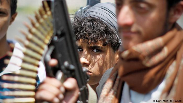 Soldiers fighting in Yemen's War