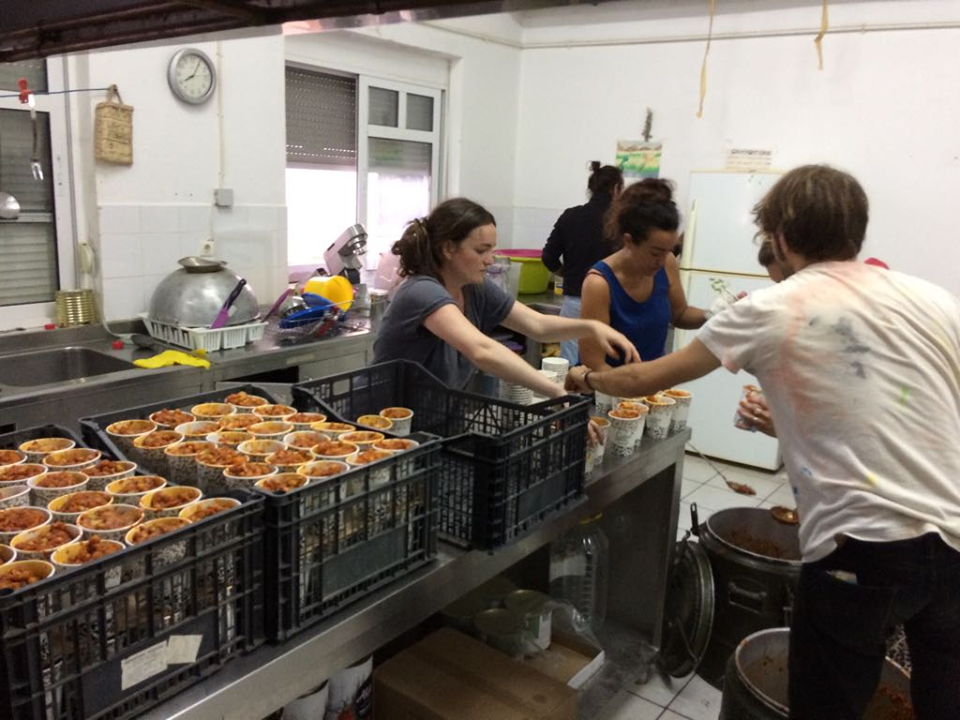 Kitchen in Moria refugee camp   Photo: Graham Wood
