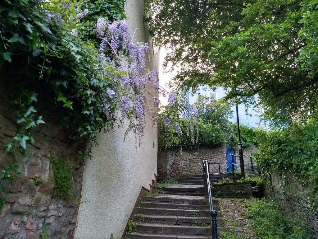 One of the many picturesque staircases in Clifton, one of Bristol's historic neighborhoods on the hill above the city center | Photo: Emma Wallis