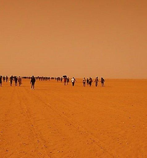 Migrants abandoned in the Sahara desert. |Photo: Sylla Ibrahima Sory
