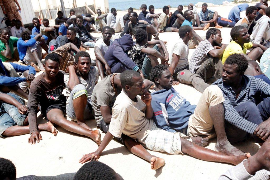 Des migrants en Libye. Crédit : Reuters