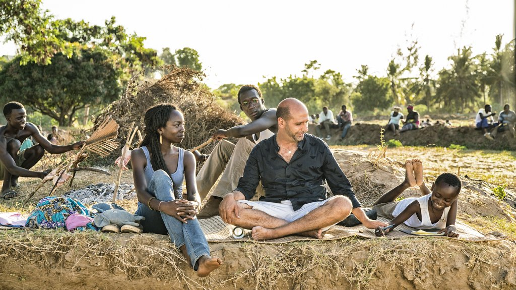 The character Checco Zalone finds brief happiness and humanity in Africa after his business fails in Italy and he runs away from his debts  Photo Maurizio Raspante for Taodue Films Italy