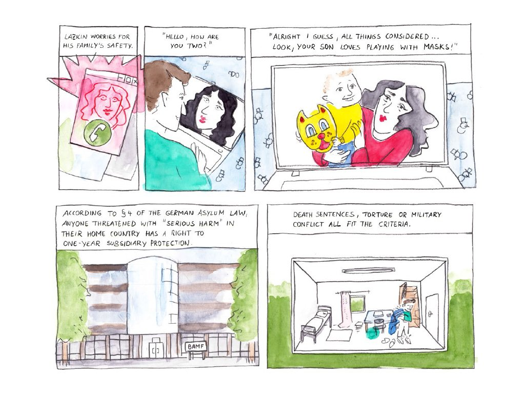 """Waiting for Family"" - a comic report by Elend Sheikhi and Burcu Türker"