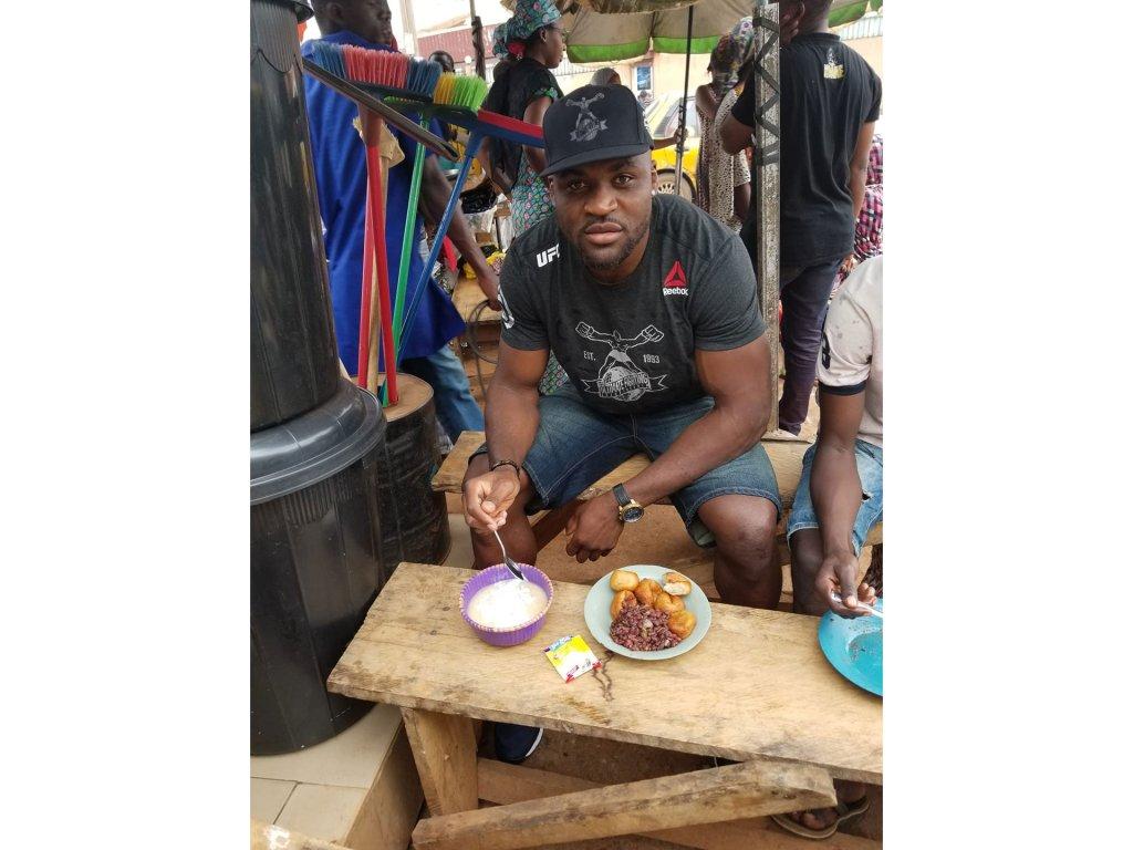 Francis Ngannou returns regularly to Cameroon Credit  Francis Ngannou
