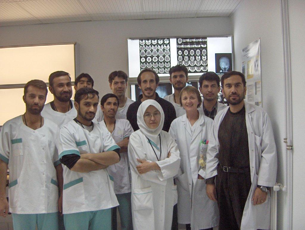 شکردخت جعفری در دوره تدریس در دانشگاه کابل. عکس از ش.ج