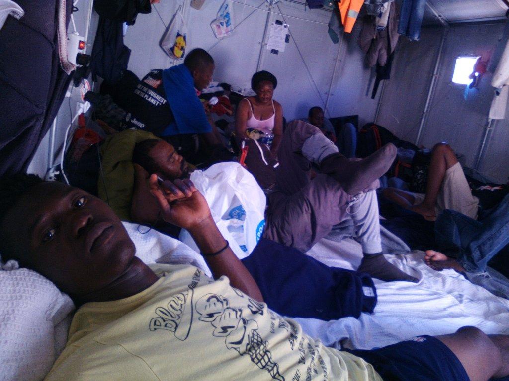 Christ Wamba a pass plusieurs mois dans le camp de Moria  Lesbos Crdit  Christ Wamba