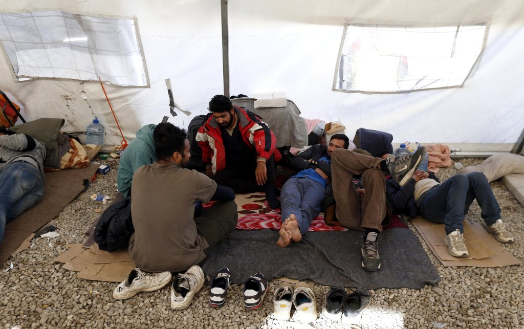 Migrants rest at camp Vucjak in Bihac Bosnia-Herzegovina  Photo EPAFehim Demir