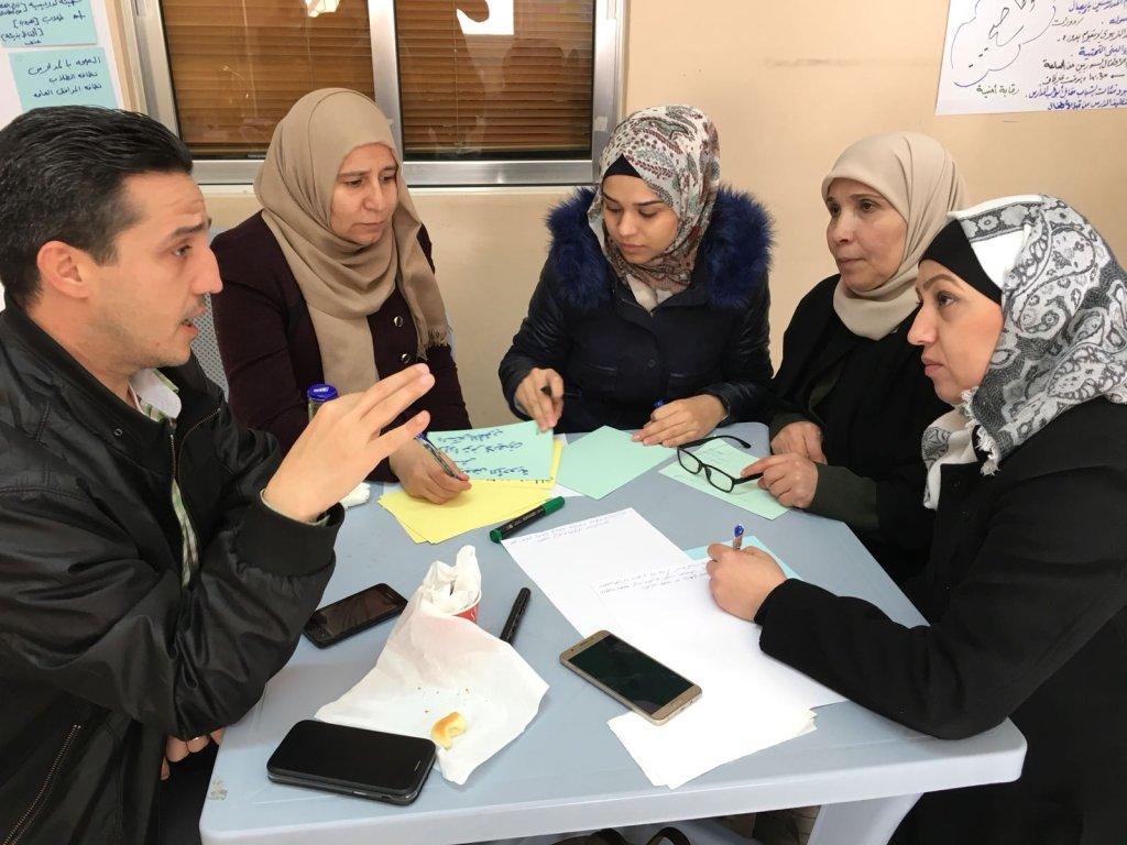 """مركز """"جهد"""" التابع للصندوق الأردني الهاشمي للتنمية، يعمل على برامج تجمع بين الأردنيين واللاجئين. الصورة: بوعلام غبشي"""