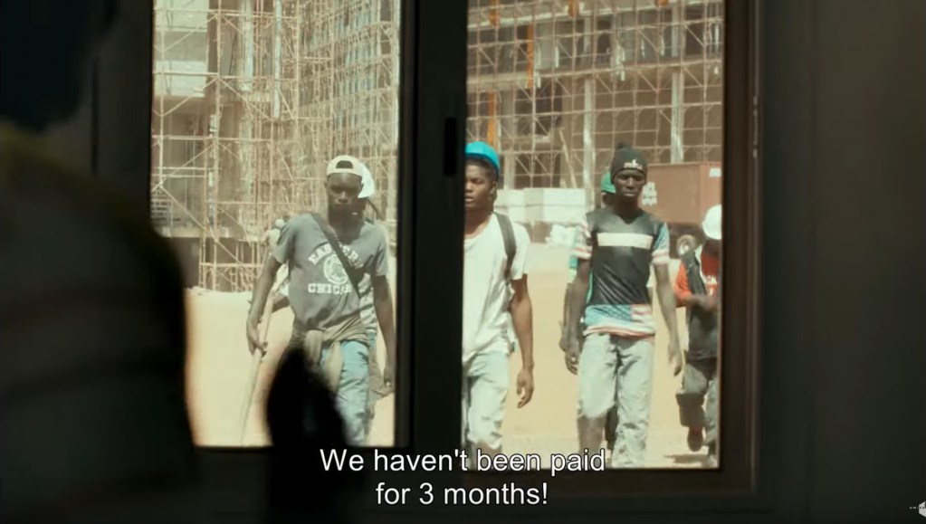 Months of unpaid wages pushes Souleiman and his friends to seek a better life in Europe  Credit Screenshot from Atlantics a film by Mati Diop Distributed by Les Films du Bal