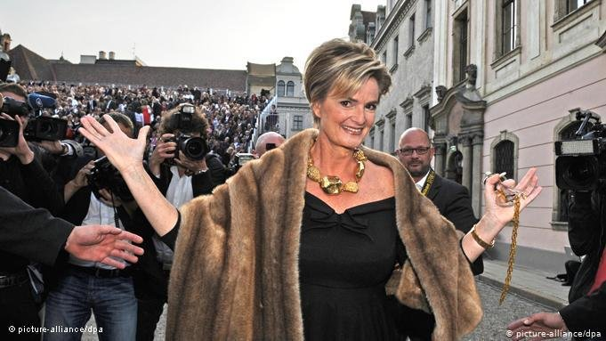 German aristocrat Princess Gloria von Thurn und Taxis has in the past made comments comparing the migrant influx of 2015 to the start of a third world war  COPYRIGHT picture-alliancedpa