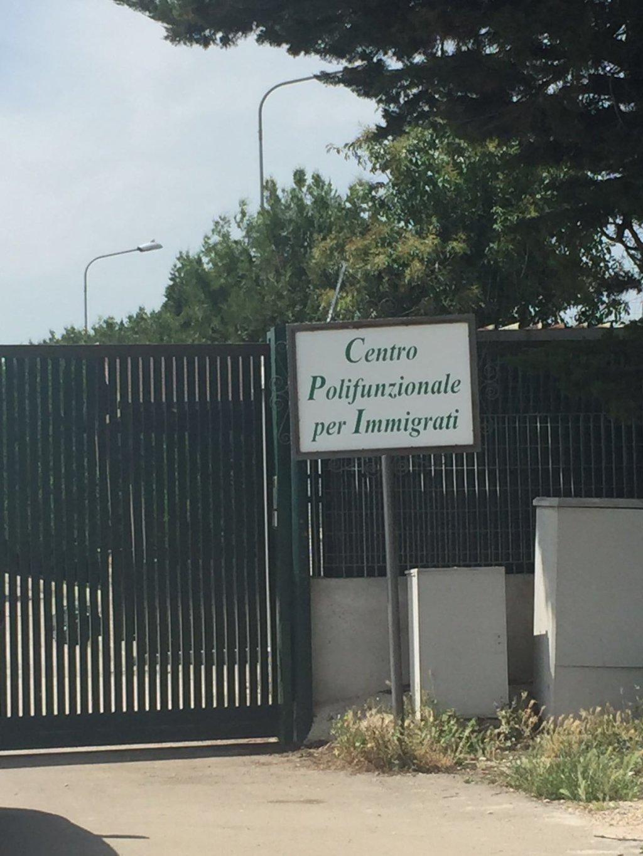 asylum-seeker reception center (CARA) in Foggia. PHOTO/ANSA