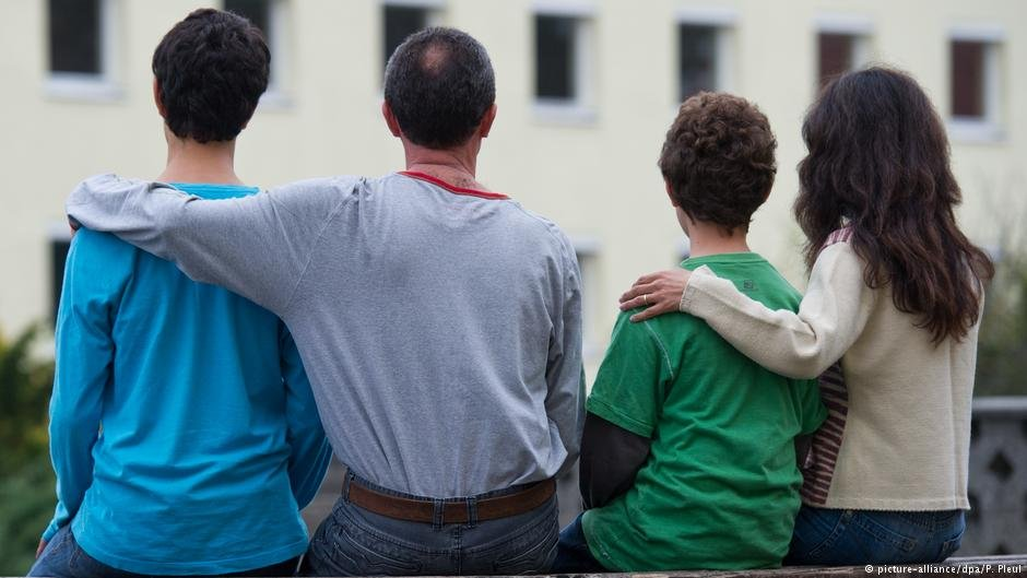 A Syrian family in the German town of Eisenhttenstadt