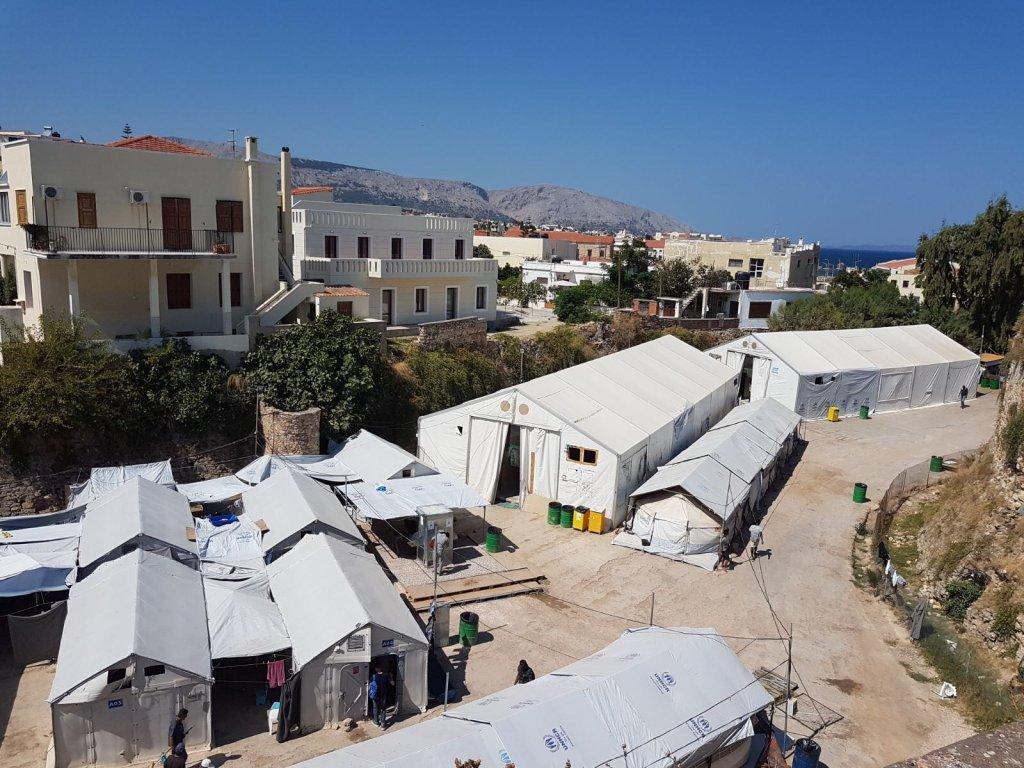 Image d'archives du camp de Chios, en Grèce. Crédit : InfoMigrants