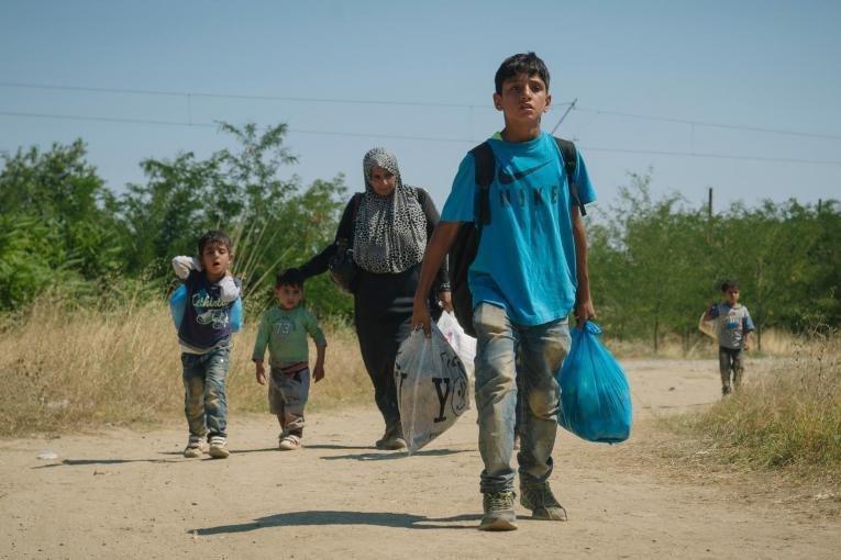 مجموعة من الأطفال المهاجرين. المصدر: يونيسف