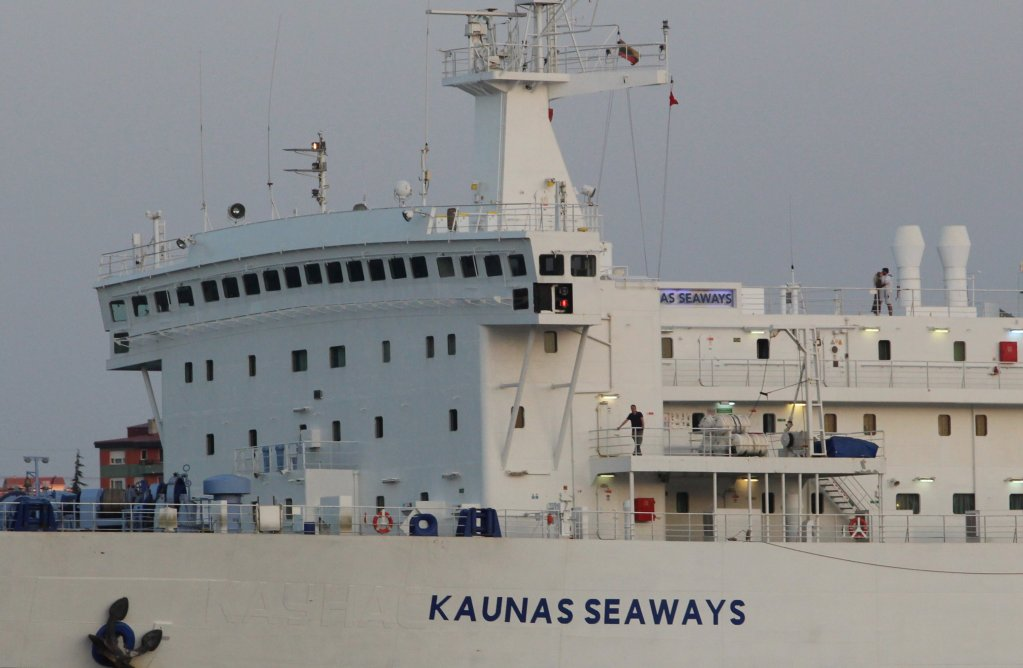 """سفينة """"كاوناس سي وايز"""" التابعة لشركة """"دي أف دي أس"""" الدنماركية. الصورة: رويترز"""