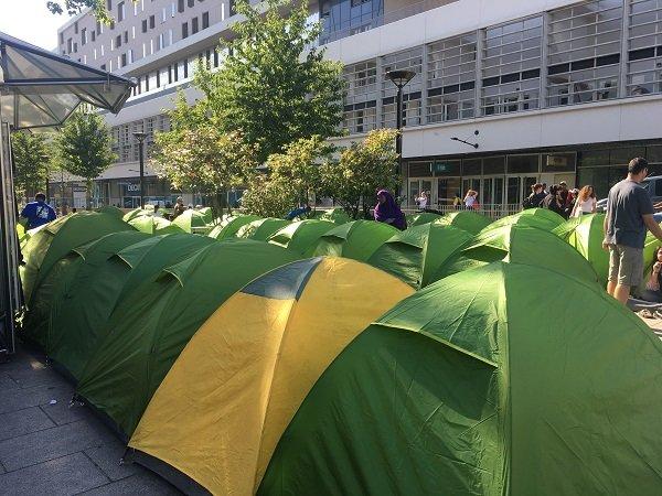 Le petit camp comptait une cinquantaine de tente le 10 juillet 2019 Crdit  InfoMigrants