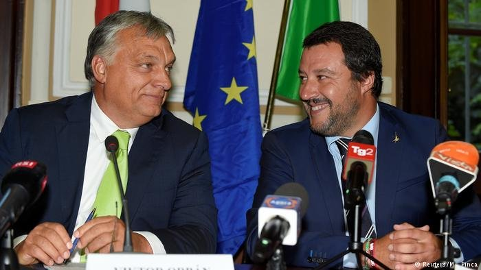 Salvini with Hungarian Prime Minister Victor Orban during a meeting at the end of August in Milan