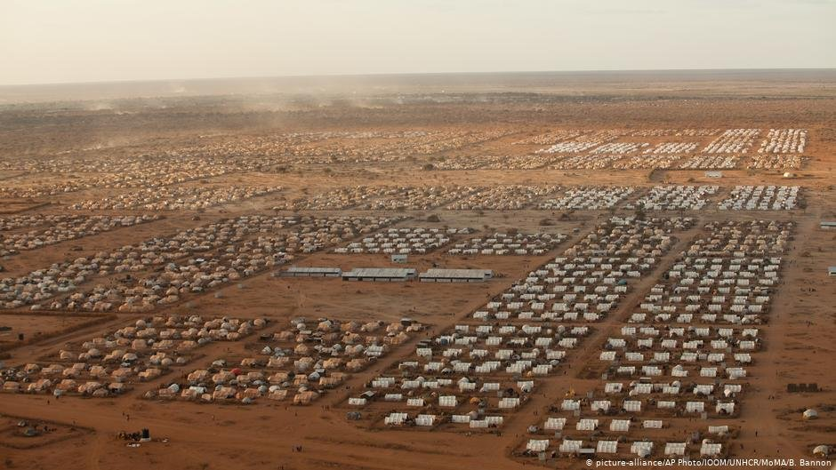 Temporary shelters being deployed on a scale similar to that after World War I in the worlds largest refugee camp in Dadaab Kenya