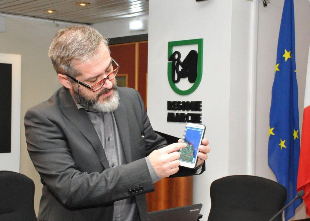 The presentation of the app in Ancona, Italy | Photo: ANSA