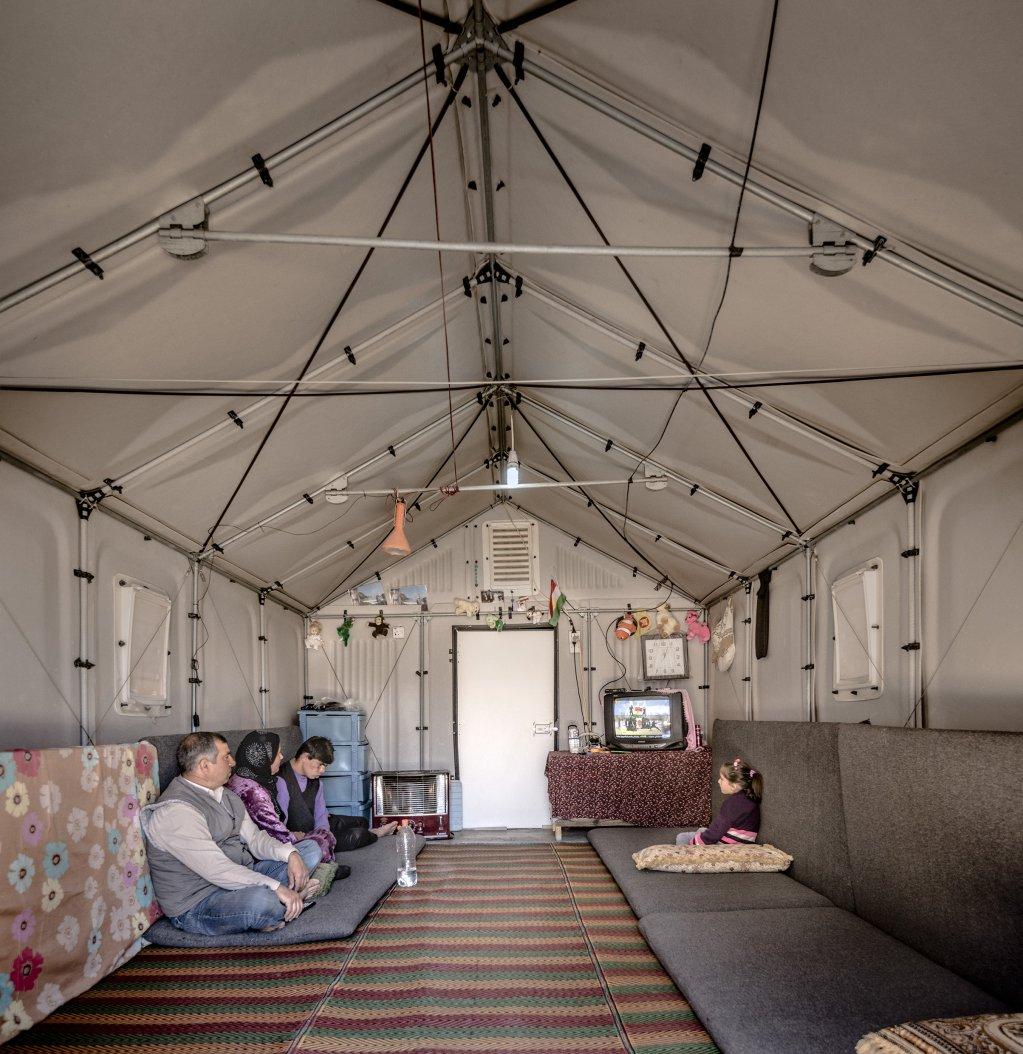 Better Shelter unit prototype in Kawergosk Iraq  Photo Erik HagmanBetter Shelter