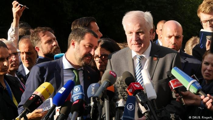 Matteo Salvini and Horst Seehofer