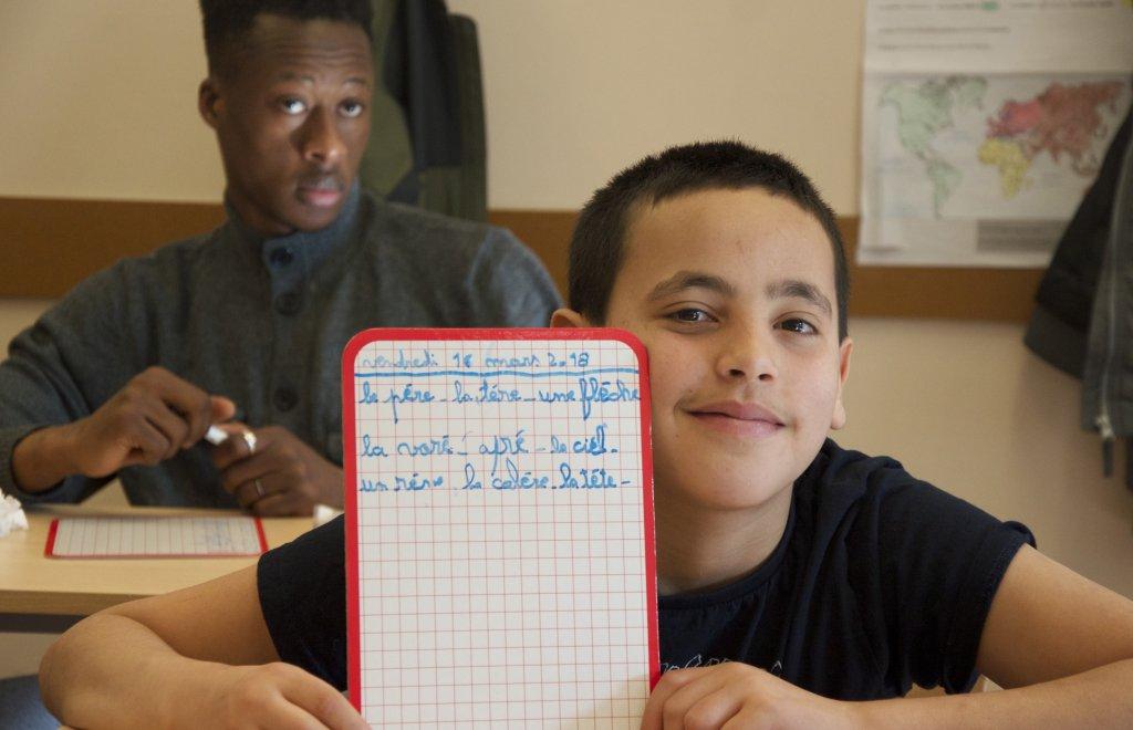 Mamadou-Dubai et Aziz accueillis dans la classe de Paloma Vuillerminaz Crdit  Mava Poulet