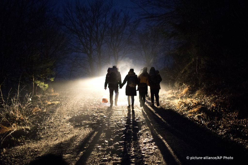Many migrants in Balkan countries are trying to make it to Western Europe  like these Indian migrants trying to cross from Bosnia into Croatia in December 2019  Photo picture alliance  AP Photo