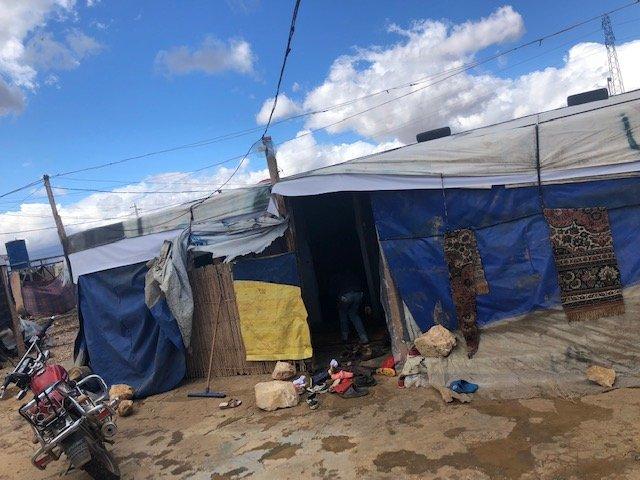 أحد مخيمات اللاجئين السوريين في لبنان. أرشيف/مهاجر نيوز