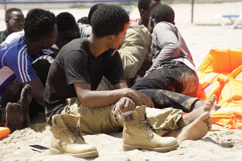 Sub-Saharan migrants rest in Hipodromo beach in Melilla, Spanish enclave in northern Africa Credit: EPA/ F.G. Guerrero