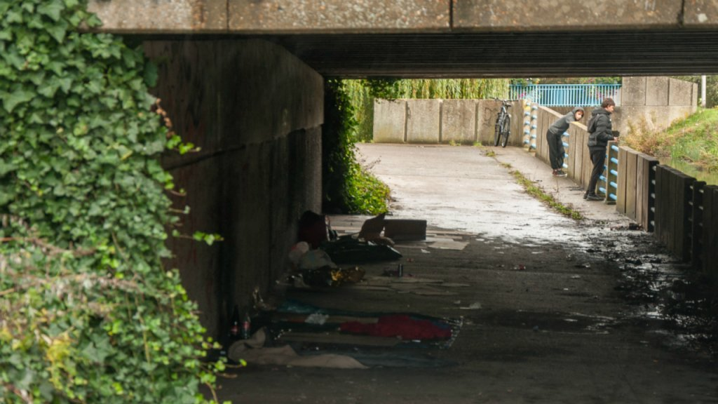 Several Iranians sleep under a bridge by the Puythouck forest. Photo: InfoMigrants