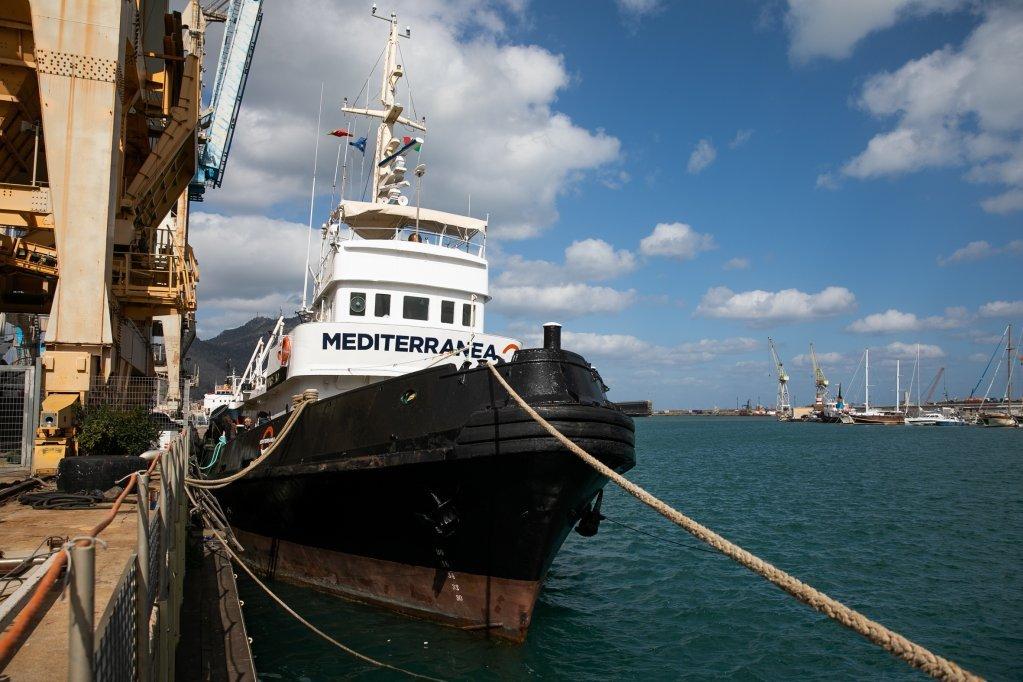 سفينة ميديترانيا في ميناء باليرمو. حقوق الصورة / مارتا بوسو Marta Buso