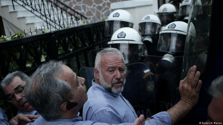 در گیری پولیس با تظاهر کنندگان در لیسبوس