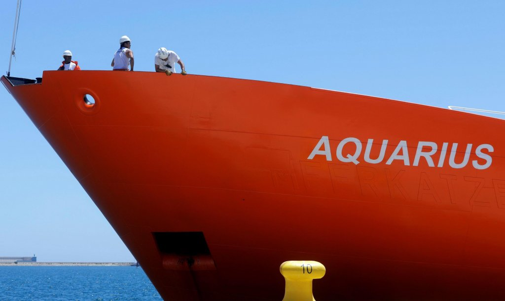 Aquarius rescue vessel Photo: Archive/EPA/Kai Foersterling