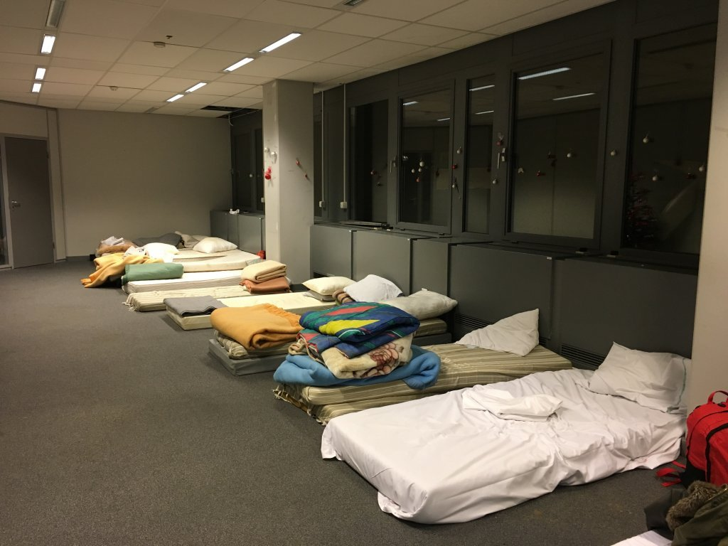 In the shelter there are 200 beds available each night Photo Boualem Rhoubachi for InfoMigrants