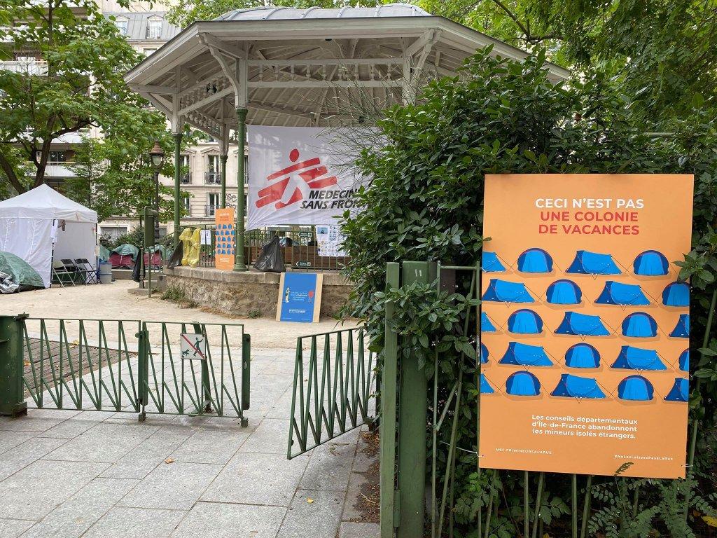 Les associations ont install ce campement en plein coeur de Paris pour que les autorits trouvent des solutions Crdit  InfoMigrants