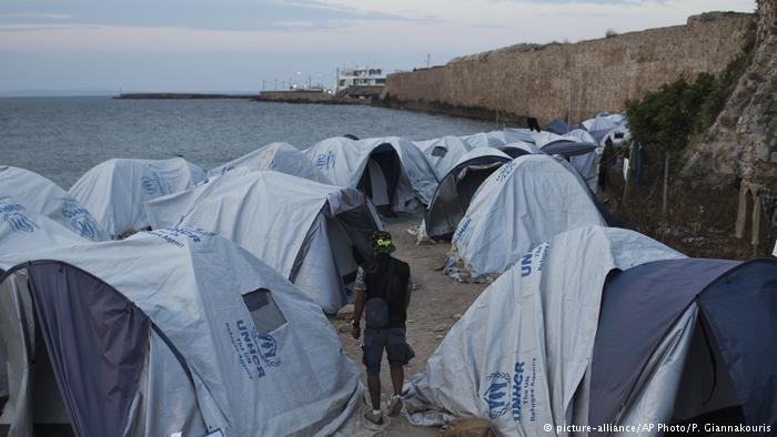 Migrant tents in Greece