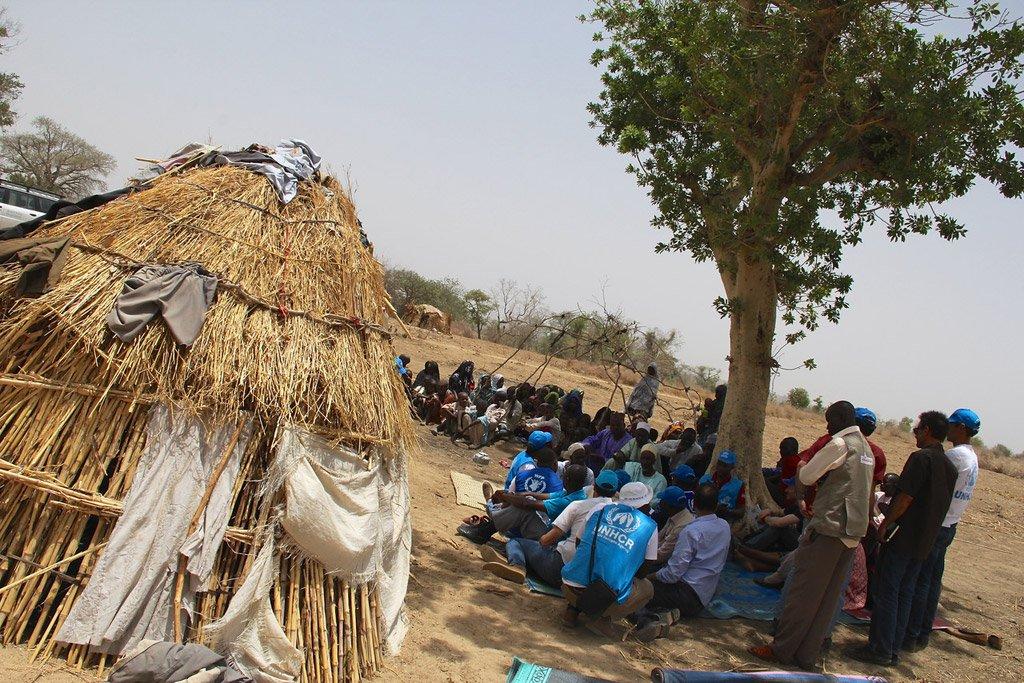 ©OCHA/Ivo Brandau |Des dizaines de milliers de Camerounais fuyant leurs foyers à cause des attaques par des membres de Boko Haram (photo d'archives).