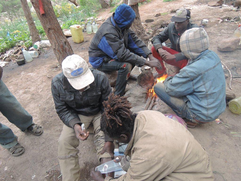 Migrant camp on Mount Gurubu | Photo: Port Causa Foundation